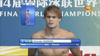 getlinkyoutube.com-Men's 1 metre springboard final, Diving, Shanghai World Aquatics Championships 2011 (4/6)