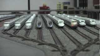 getlinkyoutube.com-Nゲージ 新幹線0系走行シーン お座敷レイアウト N-gauge  BulletTrain  Series 0
