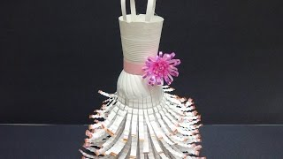 getlinkyoutube.com-Recycled Crafts Ideas: Wedding Dress out of Plastic Bottles