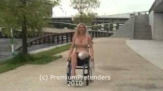 getlinkyoutube.com-P29 - Mel as Wheelchair LAK amputee pretender