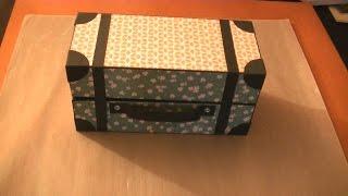 getlinkyoutube.com-Caja maleta de cartón