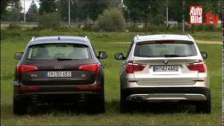 getlinkyoutube.com-BMW X3 vs. AUDI Q5   -   Test Video .....................................................Oeni