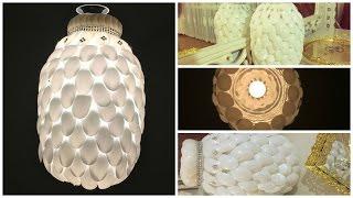 getlinkyoutube.com-Damacana ve Plastik Kaşıktan Kolay Avize Yapımı