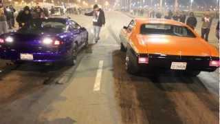 getlinkyoutube.com-SS Shaun Chevelle vs. Big Matt Camaro - $1,000 RACE