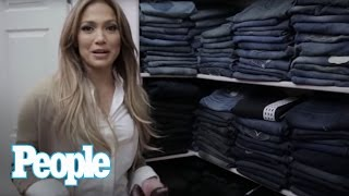 Jennifer Lopez Show Us Inside Her Enormous Closet! | Hollywood at Home |People