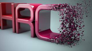 getlinkyoutube.com-Cinema 4D r16 Tutorial: Particles Transition to Text - PolyFX