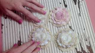 getlinkyoutube.com-Simple Shabby Handmade Flower Tutorial