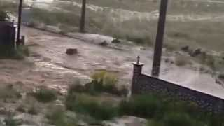 Nevşehir Acıgöl OSB'yi Dolu Yağışı Nedeniyle Sel Götürdü