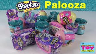 getlinkyoutube.com-Shopkins Surprise Eggs Food Fair Fashion Spree Opening Palooza   PSToyReviews