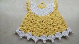 getlinkyoutube.com-CROCHET How to #Crochet Vintage Style Potholder Dress #TUTORIAL #218