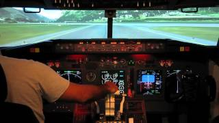getlinkyoutube.com-737-800 home made cockpit   take off from Innsbruck