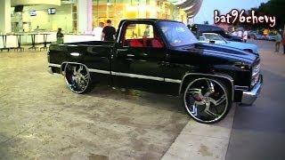 "getlinkyoutube.com-Short Bed Chevy C10 Silverado Truck on 28""/30"" Amani Forged Wheels - 1080p HD"