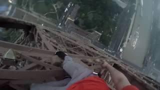 getlinkyoutube.com-CLIMBING THE EIFFEL TOWER + DRONE