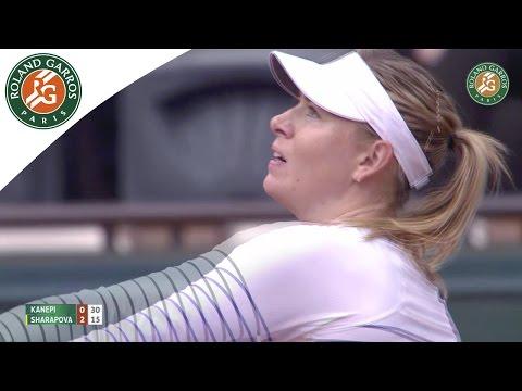 Maria Sharapova v. Kaia Kanepi 2015 French Open Women`s R128 Highlights