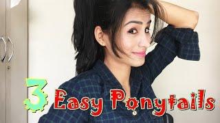 getlinkyoutube.com-Three Easy Ponytails For College or School Girls
