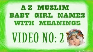 getlinkyoutube.com-A to Z Muslim Baby Girl Names with Meanings - 02