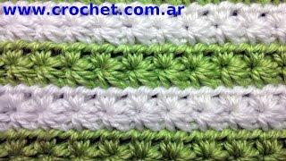 getlinkyoutube.com-Punto fantasía N° 11 en tejido crochet tutorial paso a paso.