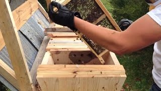 Top Bar Bee Hive First Install