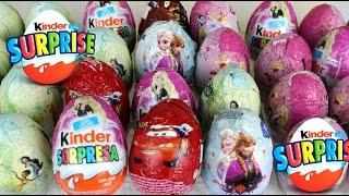 Kinder Surprise Eggs Huevos Sorpresa Barbie, Frozen, Disney Princesses, Cars, Thinker Bell