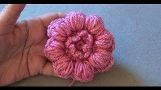 getlinkyoutube.com-Цветочек из пышных столбиков с закрепом