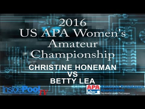 2016 U S  APA Womens Amateur Championship Christine Honeman vs Betty Lea