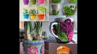 getlinkyoutube.com-Creative Crochet Ideas for HOME DECORATION Appliance