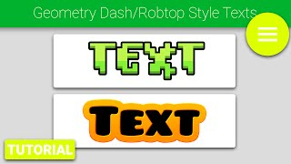 [Photoshop Tutorial] Geometry Dash/Robtop Style Text