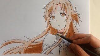 getlinkyoutube.com-Drawing Asuna (Sword Art Online)