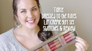 getlinkyoutube.com-Tarte Dressed To The Nines LipSurgence Lip Crème Gift Set Review & Swatches⎮LeighaDarling