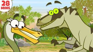 getlinkyoutube.com-Dinosaurs Cartoons For Kids To Learn & Enjoy | Learn Dinosaur Facts by HooplakidzTV