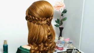 getlinkyoutube.com-Romantic hairstyle for long hair with french braids