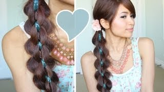 getlinkyoutube.com-Intricate 5-Strand Braid Hair Tutorial Hairstyle - Bebexo