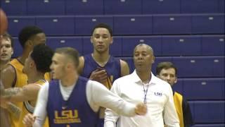 getlinkyoutube.com-NCAA Basketball 2015. LSU Open Practice  13.10.15