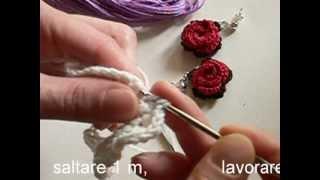 getlinkyoutube.com-Video tutorial orecchini all'uncinetto con rosa rossa parte 1.mp4