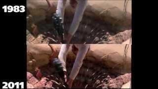 star wars 1983 v.s Blu-Ray (sarlacc battle)
