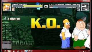 getlinkyoutube.com-Mugen Homer Simpson and MVC Peter Griffin vs Symbiote Homer and MVC Symbiote Peter