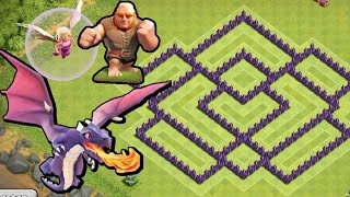 getlinkyoutube.com-BEST Town Hall Level 7 Defense Strategy for Clash of Clans + Defense REPLAY & TH7 Dark Elixir Drill