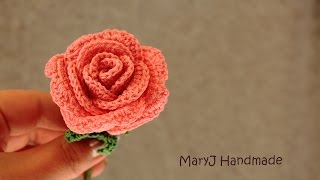 getlinkyoutube.com-Tutorial: how to crochet a rose | in English