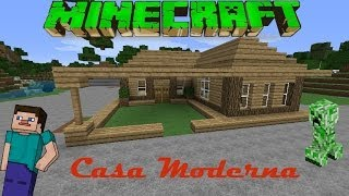getlinkyoutube.com-Minecraft-Casa Moderna De Madera /Facil / Tutorial 1.7.10