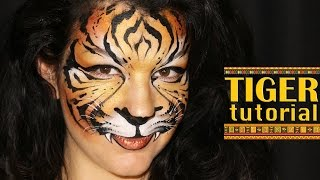 getlinkyoutube.com-Tiger — Makeup & Face Painting Tutorial