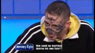 getlinkyoutube.com-Mad Dog Deon on The Jeremy Kyle Show Skull Face Tattoo