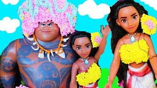 getlinkyoutube.com-Disney MOANA MOVIE New Princess ~ Way To Moana MAKEOVER Barbie Doll Parody Ocean Funny Kids Toys