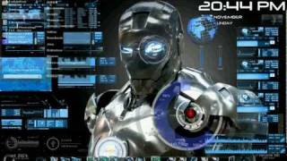 getlinkyoutube.com-Rainmeter IronMan Windows 7 Avec Rocketdoc Démo