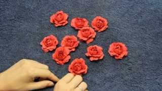 getlinkyoutube.com-Как сделать розу из бумаги с помощью ложки