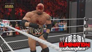 getlinkyoutube.com-WWE 2K17- WWE World Heavy Weight Championship Elimination Chamber Match 2016 (PS4)