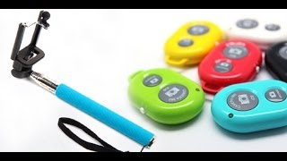 kit monopod bluetooth.Selfie remote control + Bluetooth Shutter monopod.unboxing,review.español