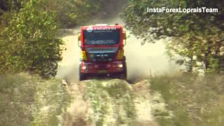 getlinkyoutube.com-Aleš Loprais-Peter Versluis TESTING MAN DAKAR truck powered by InstaForex,Eurol,Veka Team!