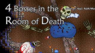 getlinkyoutube.com-Terraria - Epic 4 bosses in Room of Death