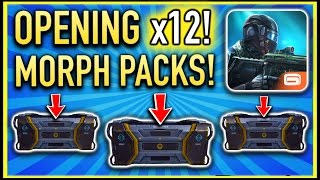 OPENING 10+ MORPH PACKS! | Modern Combat 5: Blackout (X1-Morph Class Pack Opening)