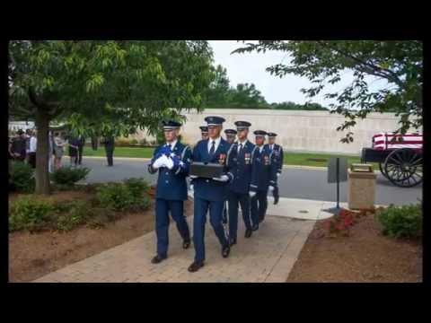 U.S. Air Force Col. & Mrs. Francis J. Smith... Full Honors, Arlington National Cemetary